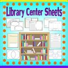 Get ready for Back To School with these Library Center Sheets!  This Library Center Activity Set includes different activities depending on the lev...