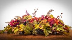 Fall Swag Wreath - Centerpiece or Swag-wreath - x x Made-to-Order Powell, OH - Designer Quality Floral - Indoor Outdoor Use - Fall Floral Arrangements, Floral Centerpieces, Table Centerpieces, Berry Wreath, A Table, Orchids, Berries, Wreaths, Plants