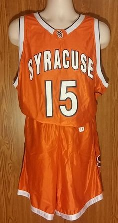 Mens S.U. Syracuse Orange Basketball Uniform JERSEY/SHORTS NCAA #15 #wilson #SyracuseOrange