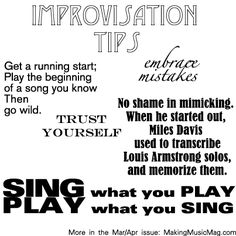 Some music tips from our March/April issue. For more, order a copy today!