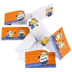 Minions Einladungskarten 6 Stück