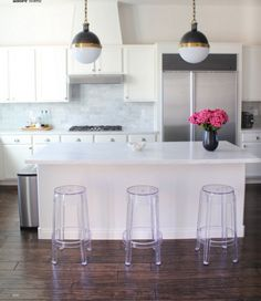 light fixtures and stools