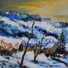 "Saatchi Art Artist Pol Ledent; Painting, ""winter"" #art"