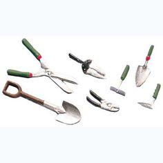 Dollhouse Miniature 7-Pc. Gardening Tool Set