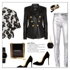 """""""Perfect"""" by frenchfriesblackmg ❤ liked on Polyvore featuring Étoile Isabel Marant, Monique Lhuillier, Balmain, Simons, Freedom To Exist, Furla and Chanel"""