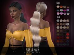 The Sims Resource: Nakia Hair by LeahLillith  - Sims 4 Hairs - http://sims4hairs.com/the-sims-resource-nakia-hair-by-leahlillith/