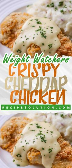 "Crispy cheddar chicken recipe- 7 SMARTPOINTS,chicken - LOSS MEALS ""No one knows Weight loss meals like we do"" - With these recipes, it's now easier ""and healthy tastier"" than ever before to stay on track with your HEALTHY goals. Weight Watcher Desserts, Weight Watchers Diet, Weight Watchers Chicken, Weight Watchers Recipes With Smartpoints, Weigh Watchers, Weight Loss Meals, Weight Watcher Dinners, Crispy Cheddar Chicken, Cheesy Chicken"