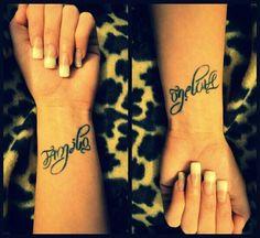 ambigram tattoo. Wrist tattoo | tattoo | Pinterest | Ambigram tattoo ...