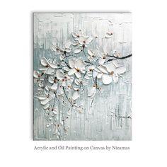 Acryl und Ölmalerei Blooming Cherry von Nizamas Ready von Artcoast