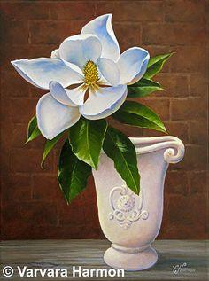 Magnolia Painting by Varvara Harmon