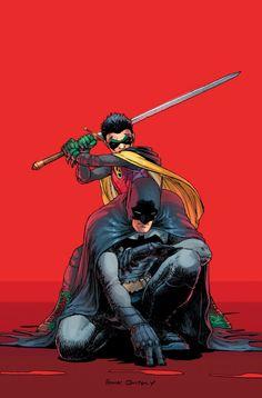 Batman (Dick Grayson) & Robin (Damian Wayne) by Frank Quitely