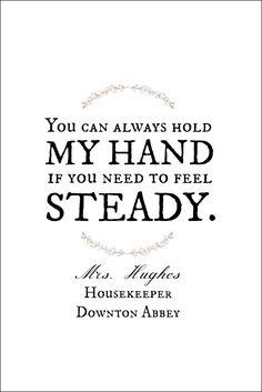 Mrs. Hughes to Carson.