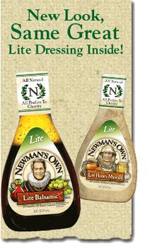 Paul Newman's Lite Balsamic Dressing...I could drink this stuff!