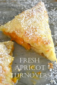 Fresh Apricot Turnovers- these are a snap to make using frozen puff pastry and jam! Fresh Apricot Turnovers- these are a snap to make using frozen puff pastry and jam! The View from Great Island Fruit Recipes, Baking Recipes, Sweet Recipes, Dessert Recipes, Köstliche Desserts, Delicious Desserts, Yummy Food, Plated Desserts, Apricot Recipes