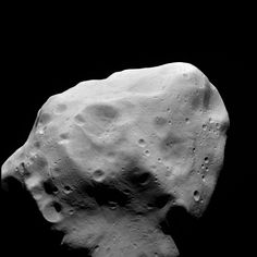 OSIRIS clear filter image taken during the flyby of the Rosetta spacecraft at asteroid Lutetia on July 10, 2010.