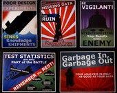 Univariate Distributions Poster by NausicaaDistribution on Etsy