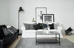 Clean appartement met zwart wit als basis