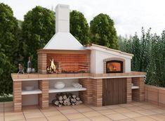 backyard design – Gardening Tips Outdoor Grill, Outdoor Kitchen Patio, Pizza Oven Outdoor, Outdoor Kitchen Design, Outdoor Barbeque Area, Outdoor Dining, Backyard Patio Designs, Backyard Bbq, Design Barbecue