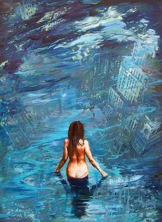 Janusz Orzechowski - Paintings for Sale Paintings For Sale, Original Paintings, Blade Runner, Global Warming, Cyberpunk, Landscape Paintings, Iron Man, Oil On Canvas, Pop Art