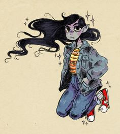 Marceline and denim Tags: Adventure Time Marceline Abadeer Marcy Vampire Queen