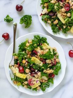 Summer Detox Salad with Cherries and Kale