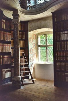 Beautiful Libraries and Bookshops...Library in monastery Einsiedeln, Switzerland, photo by octopuzz via Flickr. https://musetouch.org/?cat=32
