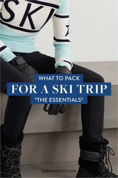 Contrary to what some may think, what to wear skiing and snowboarding is not simply what you might wear on a normal winter day. Here's a handy checklist of what to wear when you are hitting the slopes! #ski #snowboard #packinglist Ski trip packing list, what to wear skiing, what to wear skiing clothes, ski trip outfit, ski trip essentials, ski trip outfit woman, ski trip packing list women Ski Trip Packing List, Packing Checklist, Packing Lists, Ski Trip Outfit Woman, Snowboarding, Skiing, Shopping Places, Travel Souvenirs, What To Pack