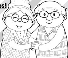 Abuelos Grandparents Day Crafts, Family Drawing, Colorful Pictures, Designs To Draw, Easy Drawings, Coloring Pages, Origami, Cartoon, Disney Characters
