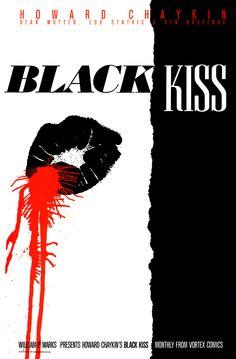 Black Kiss Promo Poster by Howard Chaykin
