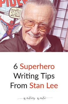 Writers Write is a resource for writers. We've put together a post that includes six superhero writing tips from Stan Lee. Writer Tips, Book Writing Tips, Writing Quotes, Fiction Writing, Writing Process, Writing Resources, Writing Help, Writing Skills, Writing Ideas