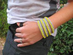 armbandje haken - crochet bracelet tutorial - Bees and Appletrees (BLOG)