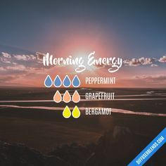 Morning Energy - Essential Oil Diffuser Blend