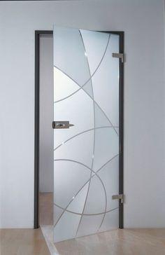 Porte en verre est saisie pour portes vitrées en acier inoxydable PZ Studio Porte en verre Château Château encadré