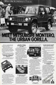#Publicidad #Mitsubishi #Ads 1983 Mitsubishi Montero ad. http://www.lexingtonmitsubishi.com/