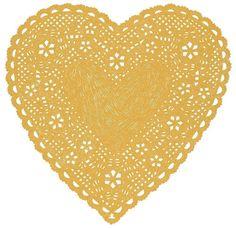 Heart Doily Art Print by Ashley G - Much Love (Natural). $28.00, via Etsy.