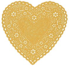 Heart Doily Art Print by Ashley G - Much Love (Natural). $28.00, via Etsy.