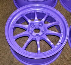 Purple Powder Coated Rims - http://www.powderkegcoatings.com