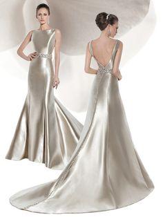 3207 Micado Satin, Sleeveless, fit n flare wedding gown with a low V-back. This… 3207 Micado Satin, Sleeveless, fit n flare wedding gown with a low V-back. Wedding Dress Pictures, Best Wedding Dresses, Bridal Dresses, Wedding Gowns, Bridesmaid Dresses, Fit N Flare, Dress Attire, Evening Dresses, Formal Dresses