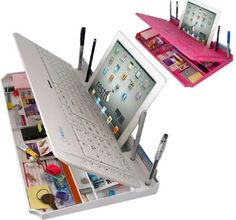 Bluetooth 6 in 1 Keyboard and Organizer with Tablet Stand Restt Color: White by mykeyO, http://www.amazon.com/dp/B00APLNEDO/ref=cm_sw_r_pi_dp_CnRJrb108N1QX
