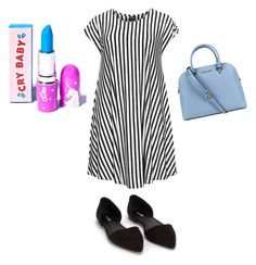 """blue day"" by abb-yy ❤ liked on Polyvore featuring Choise, Nly Shoes, Lime Crime and Michael Kors"