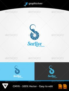 SeaLive Logo #GraphicRiver Item Details: • Color CMYK • Fully editable AI and EPS files • Easy editable color and text • Free Font Lobster and Ubuntu • Three Color Variations For additional information please contact me The fonts can be Downloaded at dafont and ubuntu for free: .dafont /lobster.font font.ubuntu Created: 6October13 GraphicsFilesIncluded: VectorEPS #AIIllustrator Layered: Yes MinimumAdobeCSVersion: CS Resolution: Resizable Tags: animal #animals #bar #bistro #blue #business…