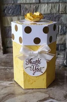 Stampin' Up! Demonstrator stampwithpeg – Hexagon Gift box : Thank you, Daffodil…