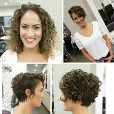 Tomboy curly hair style