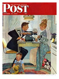 """""""Dewey v. Truman"""" Saturday Evening Post Cover, October 30,1948 Giclee Print by…"""