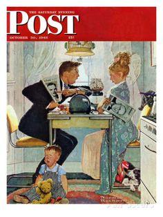 """Dewey v. Truman"" Saturday Evening Post Cover, October 30,1948 reproduction procédé giclée par Norman Rockwell sur AllPosters.fr"