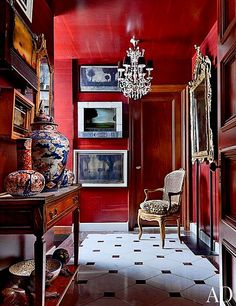 Ruth Burts Interiors: color combos: RED + WHITE + BLACK