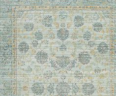 Alfombra de poliéster Aubrey, azul y turquesa - 152x243 cm