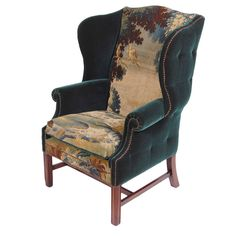 The Eden Wingback | From a unique collection of antique and modern armchairs at http://www.1stdibs.com/furniture/seating/armchairs/