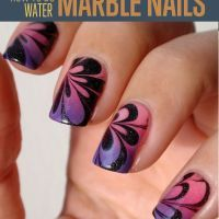 How to do water marble nails with water marble nail art techniques. Check out our step by step water marble nails tutorial. Cute Nail Art, Nail Art Diy, Easy Nail Art, Diy Nails, Cute Nails, Pretty Nails, Gorgeous Nails, Marble Nail Designs, Diy Nail Designs