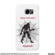 Zombie With Web Halloween Scary Phone Case Samsung Galaxy S6 Cases